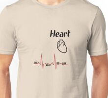 Body parts human heart geek funny nerd Unisex T-Shirt