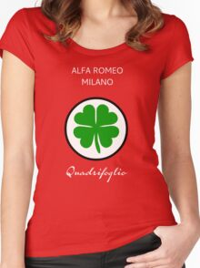 Alfa Romeo - Quadrifoglio Women's Fitted Scoop T-Shirt