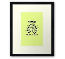 Body parts human lungs geek funny nerd Framed Print