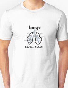 Body parts human lungs geek funny nerd Unisex T-Shirt