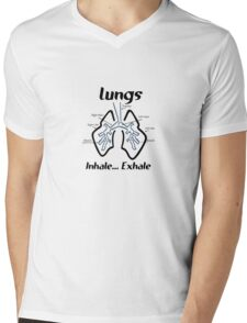 Body parts human lungs geek funny nerd Mens V-Neck T-Shirt