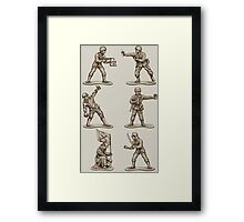 FASTFOOD SOLDIERS Framed Print