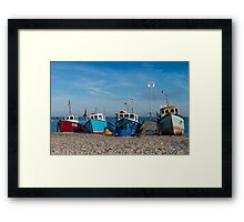 Four Fishing Boats Framed Print