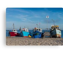 Four Fishing Boats Canvas Print