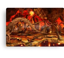 Heat surrounded Canvas Print