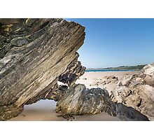 Dramatic Beach Rocks Photographic Print
