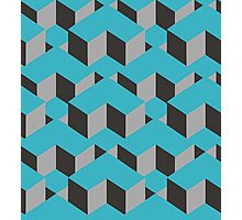 Square Cubes Pattern Photographic Print