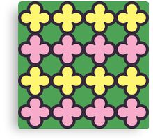 Summer Fun Quatrefoil Pattern Canvas Print