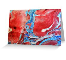 Lovely Flow of Colours - Marbling Greeting Card