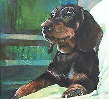 Dachshund Emma by Julia Prusi
