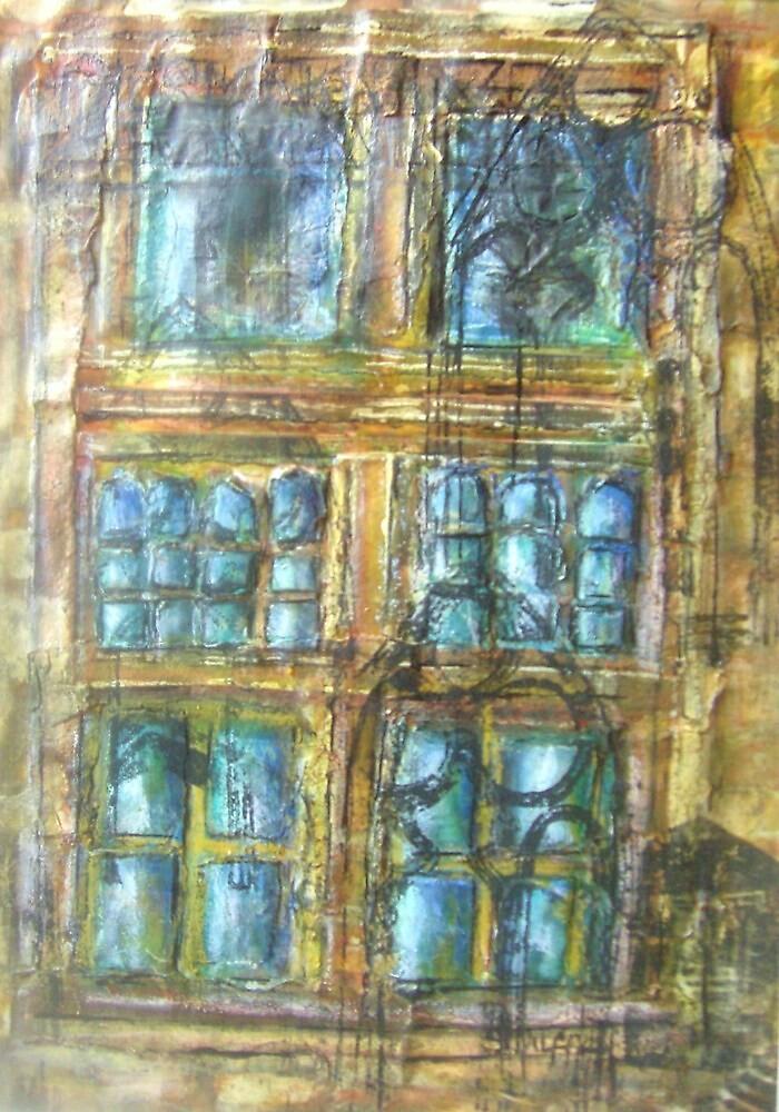 Skipton Castle Windows 2 by Susan Duffey