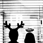 Waiting for Santa: Christmas card, happy Holidays by redcow