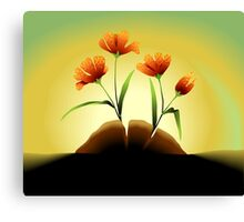 Beauty of the plant with flowers  Canvas Print