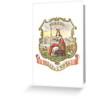 Vintage California State Seal Greeting Card