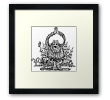 Yeti Yoga Framed Print