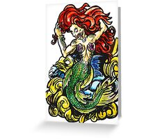 Ariel - traditional tattoo style Greeting Card