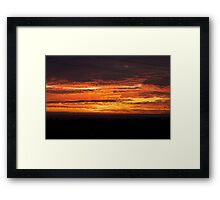 Spicy Hot Sunset Framed Print