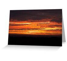 Spicy Hot Sunset Greeting Card