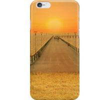 Bridge over the sea of wheat iPhone Case/Skin