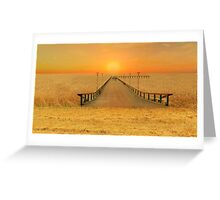 Bridge over the sea of wheat Greeting Card