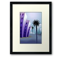 Beauty of the multi storied building with trees behind it Framed Print