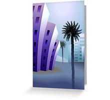 Beauty of the multi storied building with trees behind it Greeting Card