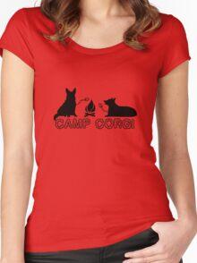 Camp corgi geek funny nerd Women's Fitted Scoop T-Shirt
