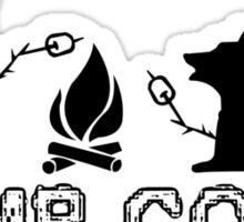 Camp corgi geek funny nerd Sticker