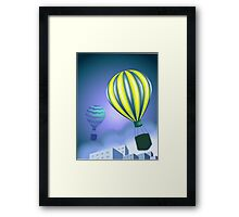 Excitement of the parachutes flying in the sky Framed Print