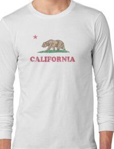 California Flag Retro Fader Long Sleeve T-Shirt