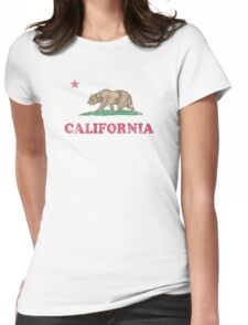 California Flag Retro Fader Womens Fitted T-Shirt