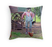 The Old Tin Chook Farmer Throw Pillow