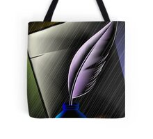 Quill with ink pot Tote Bag