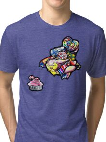 Skitty in candyland! Tri-blend T-Shirt