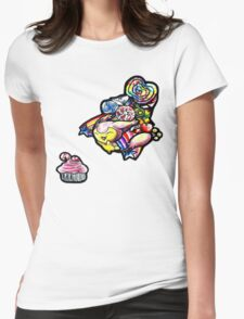 Skitty in candyland! Womens Fitted T-Shirt