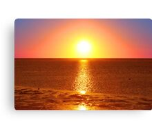Sunset - North West Island - Great Barrier Reef Canvas Print