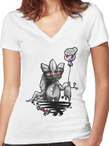 Banette and drifloon pokemon piece Women's Fitted V-Neck T-Shirt