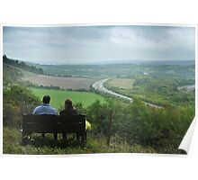 looking out onto the M25 in Surrey Poster