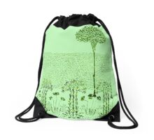 Vintage art Drawstring Bag