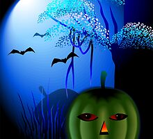 Halloween of pumpkin in the moon light	 by tillydesign