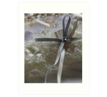 Wedding bow Art Print