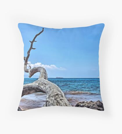 Maluaka Beach Throw Pillow