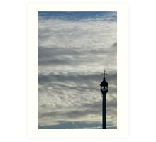 St Mary's Island Kent, bell tower and clouds Art Print