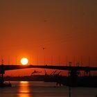 Westgate Bridge Sunset - Melbourne. by alexwaldmeyer