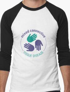 Official Mixed Connective Tissue Disease Logo Men's Baseball ¾ T-Shirt