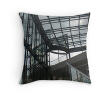 Berlin Historical Museum glass and steel Throw Pillow
