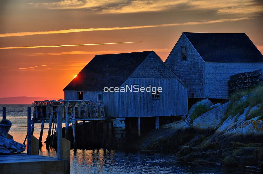 Peggys Cove Sunset by oceaNSedge