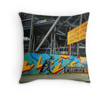 urban landscape - construction site Throw Pillow