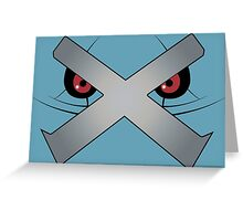 Metagross Face Greeting Card