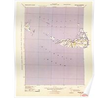 Massachusetts  USGS Historical Topo Map MA Nantucket 351134 1942 125000 Poster